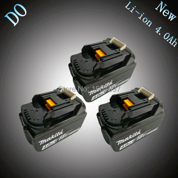 3PCS New Rechargeable Lithium Ion 4000mAh Power Tool Battery Replacement for Makita 18V BL1830 BL1840 LXT400 194205-3 194230-4 new rechargeable cordless tools batteries bl1830 4000mah for makita bl1840 lxt lithium ion 4 0ah power tool battery free post