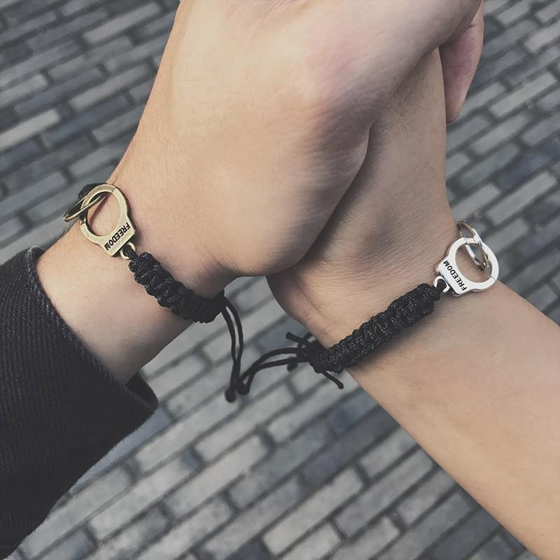 Adjustable Vintage Handmade Bracelet Men Jewelry Handcuffs Charm Bracelet for Women Accessories Friendship Girl Couple Bracelets 18