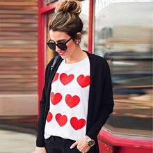 Womail Vrouwen top t-shirt Zomer Casual Valentijnsdag Liefde Lange Mouw Sweater Trui Tops Shirt Tee 2019 dropship f5(China)