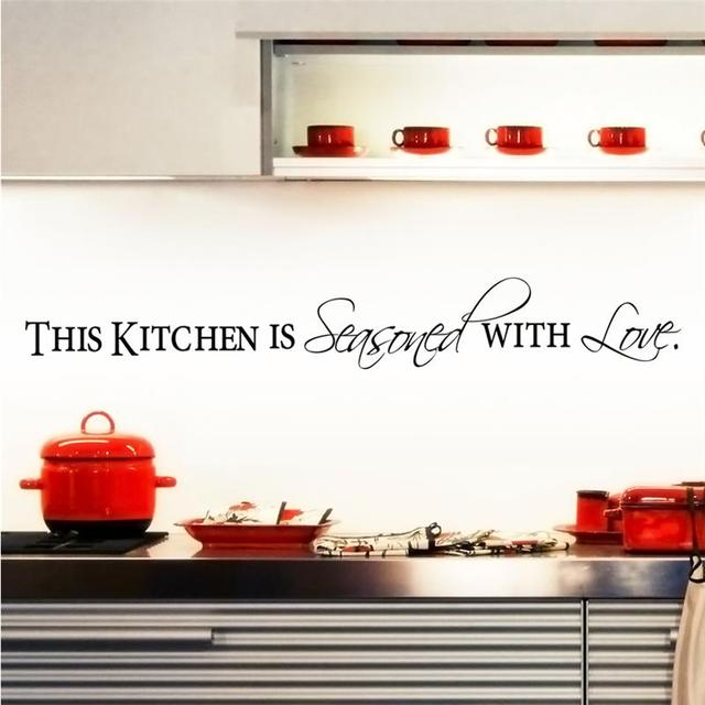 Kitchen Love Wall Stickers Home Decal Vinyl Diy Art Mural