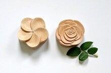 Flower Wood Music Box Gift Box Hardcover Sky City Rose & Egg Flower