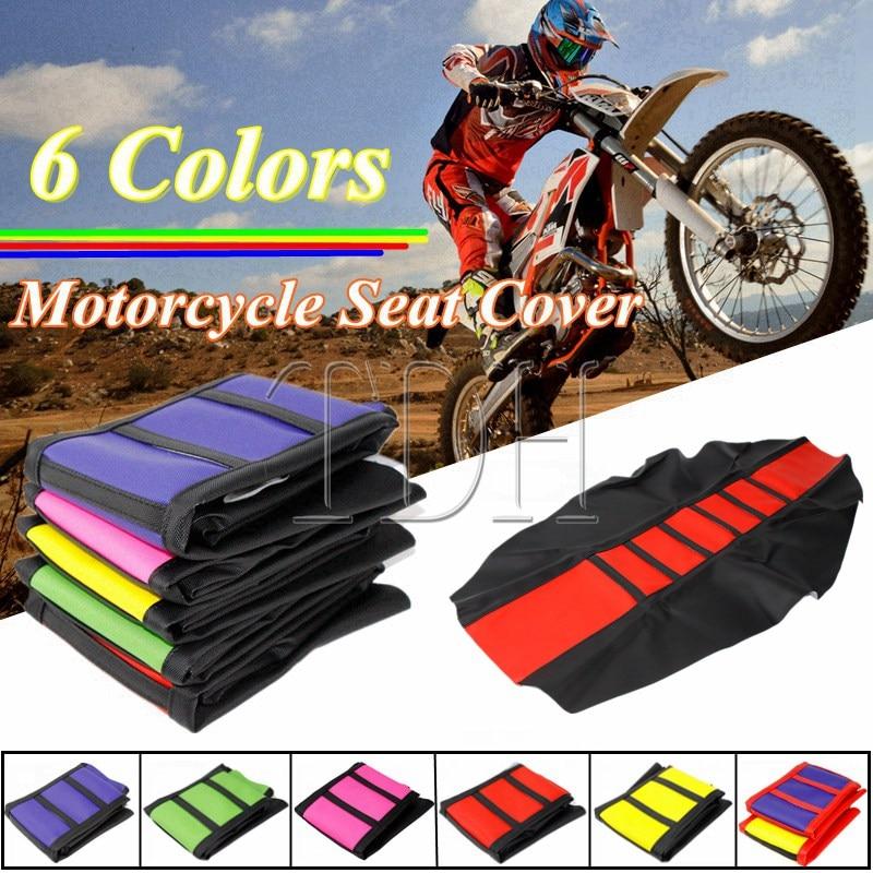 Motocross Dirt Bike Gripper Seat Cover for Honda CRF XR 250R 450R 125 Yamaha Suzuki WR TTR YZ DRM RMZ 85 125 230 450 KTM 530