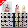 1Pcs Sliver Nails Stickers Flower Nail Foils Decal Hollow Nail Art Confetti For 3D Stickers Shilak Nail Foils Decal