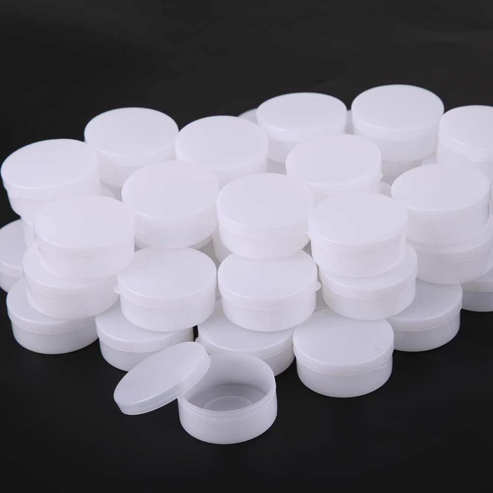 Sanft 50 Stücke 10 Gr/ml Cosmetic Leere Glas Pot Schminke-verfassungs-gesichtscreme Container Box Lidschatten Gesicht Make-up Creme Container Box Haut Pflege Werkzeuge Schönheit & Gesundheit