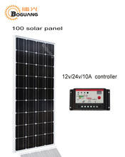 Boguang 100w solar galss panel Monocrystalline Silicon 10A controller 18v 1175*530*25mm battery charge RU stock China