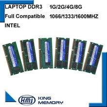 Envío Gratis 1,5 V 1,35 V portátil DDR3 1G 2G 4G 8G 4GB 8GB ram PC3 PC3L 8500, 1066MHz, 10600, 1333Mhz, 12800, 1600MHz de memoria Sodimm