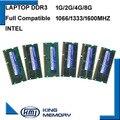 KEMBONA Freies Verschiffen 1 5 V 1 35 V 1G 2G 4G 8GB DDR3 ram PC3 8500 1066MHz PC3 10600 1333Mhz PC3 12800 1600MHz Sodimm laptop speicher-in Arbeitsspeicher aus Computer und Büro bei