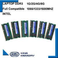 KEMBONA Gratuit Shipping1.5V 1.35V 1G 2G 4G 8 GO DDR3 ram PC3 8500 1066MHz PC3 10600 1333Mhz PC3 12800 1600MHz Sodimm ordinateur portable mémoire
