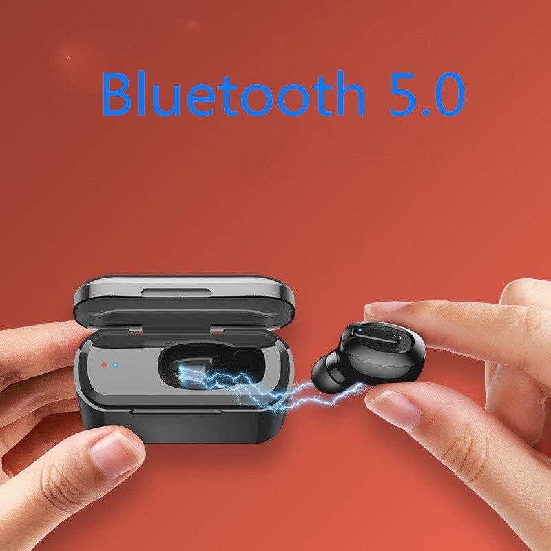 Vanniso Bluetooth Earphone TWS HBQ Wireless Blutooth 5 0 Earphone Handsfree Headphone Sports Earbuds Stereo Headset Charging Box in Bluetooth Earphones Headphones from Consumer Electronics