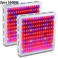 2PCS BOSSLED 1600W White Double Chips Full Spectrum LED Grow Light for Indoor Plants and Flower Phrase led Lights For Growing
