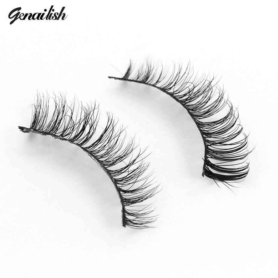Genailish Handgjorda 3D Mink Ögonfransar Skönhet Tjocka Långa Falska Ögonfransar Falska Ögonfransar Förlängning Högkvalitativa Ögonfransfransar-A13
