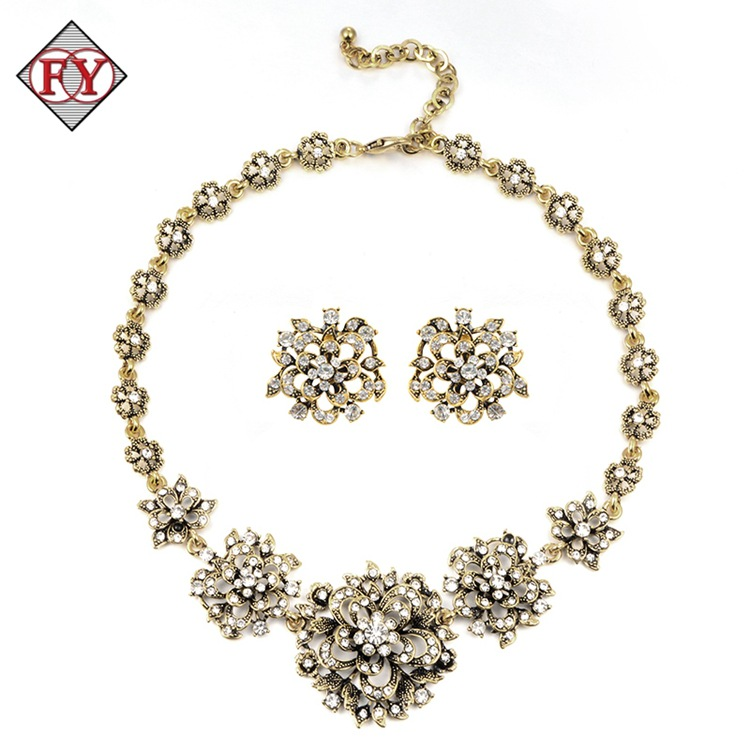 Fashion alloy the bride accessories necklace set earrings twinset wedding jewelry wedding accessories