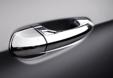 For Ford Mustang 2015 2016 2017 4PCS ABS Chromed Exterior Door Handle Cover Trim with Smart Hole Car Styling