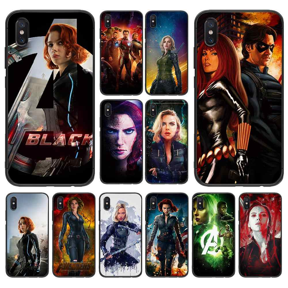 The Avengers Yang Indah Janda Hitam untuk Xiao Mi Merah Mi Note 5 S2 7 Plus 6 3 3S Pro 4A 4X 5A 6A Prime Case untuk Mi 9 8 RG Lite