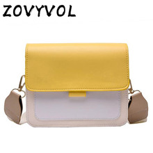 ZOVYVOL Contrast color Leather Cross body Bags For Women 2019 Travel Handbag Fashion Simple Shoulder Messenger Bag Ladies