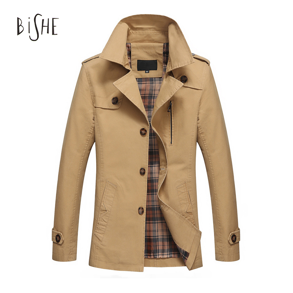 2017 New Plus Size 5XL Trench Coat Men Spring Windcheater Long Jackets Slim Fit Overcoat Men Coats Fashion Trench Outerwear