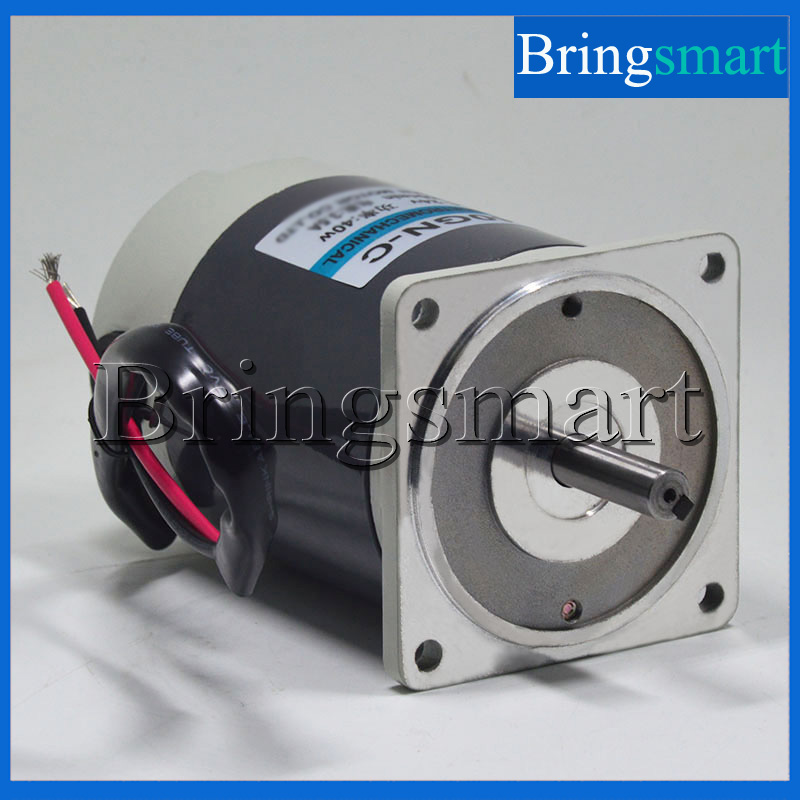 Bringsmart 12V 40W DC Gear Motor 24V Adjustable Speed DC Motor High Speed 1800rpm/3000rpm Motor bringsmart 12v dc gear motor 60w high torque motor adjustable speed low speed dc motor