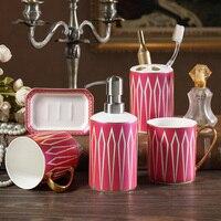 Креативная Геометрическая фигурка Caramic набор для мытья унитаза для ванной комнаты набор из пяти предметов чашка + держатель для зубных щето