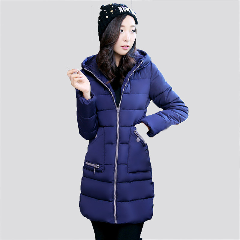 Winter Jacket Women 2016 New Fashion Long Hooded Ladies Coat Thick Warm Slim Female Wadded Jacket Plus Size manteau femme W051 цены онлайн