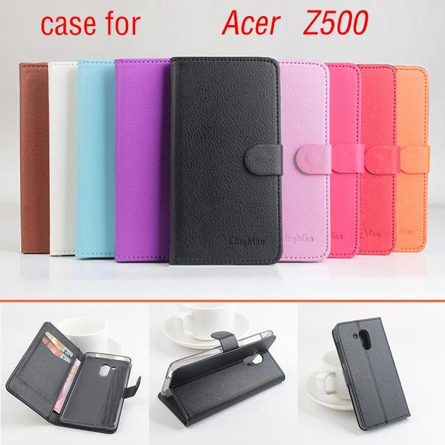 for Acer Z500 Case Flip PU Leather Wallet Case for Acer Z500 Cover Luxury Brand Litchi Grain Stand Phone Bag Fundas