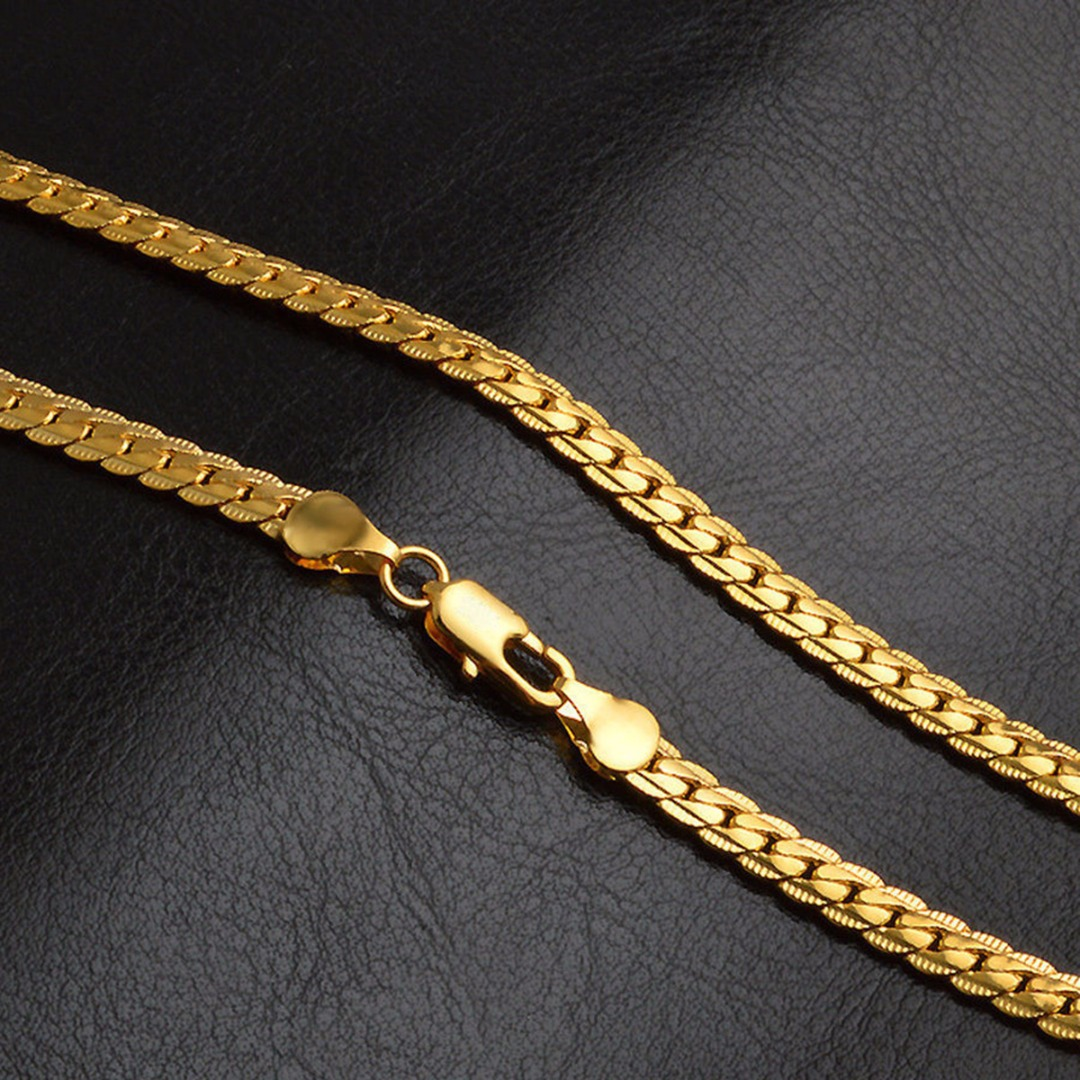 Shellhard Fashion Jewelry Femme Bijoux Vintage Gold Color Chain Trendy Cuban Curb Link Chain Necklace Charming Jewellery