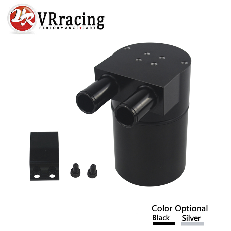 VR RACING - UNIVERSAL RACING Aluminum Alloy Reservior Oil Catch Can Tank for BMW N54 335 VR-TK60 coolant overflow reservior tank bottle catch can 3 x 10 32oz stainless steel