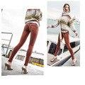 Orange-s xl novas mulheres leggings cintura baixa push up sexy Hip Calças Sólidas Para Mulheres Moda Elastic Leggings Tempo de Aventura 2016