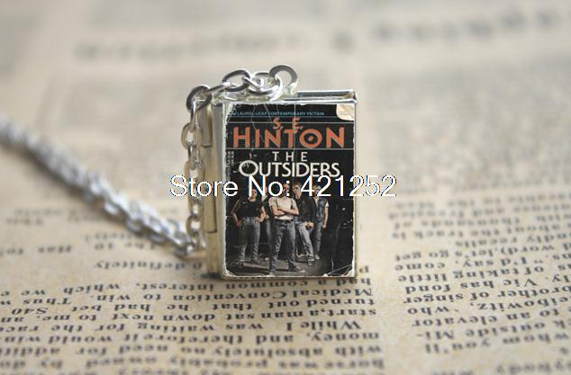 The Outsiders Book Locket Necklace SILVER Tone VISION 6 In