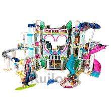 2018 новый совместимый legoing Friends в хартлейк Сити Resort модель 41347 строительные игрушечный конструктор для девочек Рождественский подарок