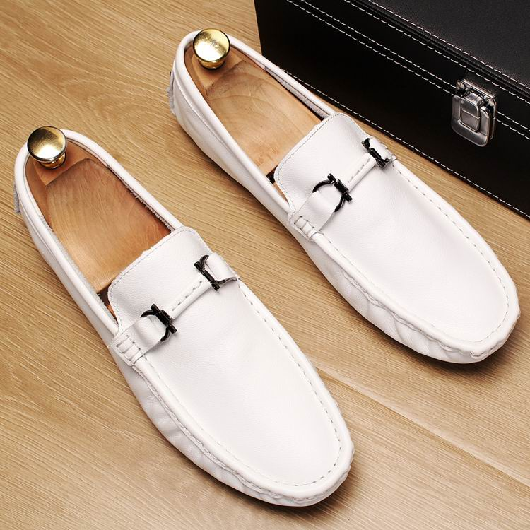 Errfc New Arrival Men White Loafer Shoes Fashion Slip On Lazy Boat Shoes For Men Driver Shoes Trending Leisure Shoes Blue 38-47 Men's Shoes