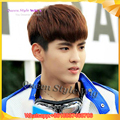 Hot Sale Korean Singer EXO Group kris Wu Hairstyle Wig Synthetic Short Straight Fairy Man Brown Color Wig Male Cosplay Anime Wig