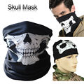 Motorcycle Skull Ghost Half Face Windproof skullies Outdoor Sports Warm Ski Caps Bicycle Balaclavas Scarf CS halloween Cosplay