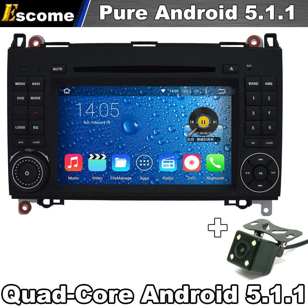 Car DVD GPS For Mercedes Benz B200 B150 B170 A180 A160 Vito W639 Viano Pure Android 5.1  ...