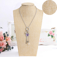 Linen Neck Props Jewelry Necklace Pendant Neck Model Display Stand Holder T15