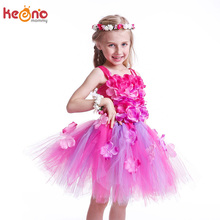 Beautiful Beads Flower Tulle Girls Tutu Dress for Pageant Wedding Party Costume Princess Baby Dress Kids Birthday Clothing handmade tulle tutu dress purple flower girl dresses princess costume kids pageant dance wedding birthday bridesmaid party dress