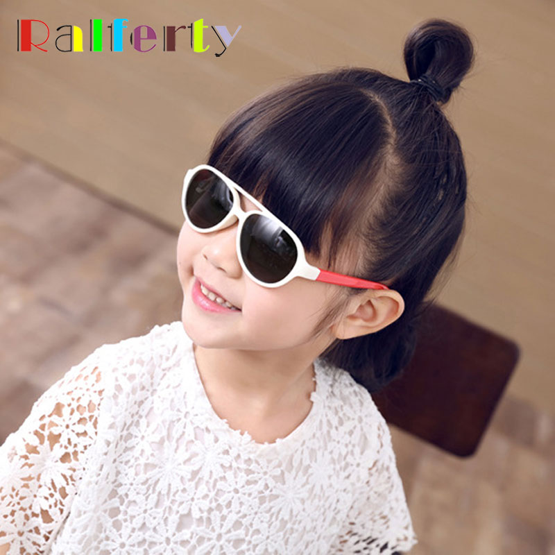 bc6c3f44e4 Ralferty TAC Flexible Eyewear Kids Sunglasses Polarized Anti UV Oval Sun  Glasses Girls Boys Infant Outdoor