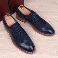 Англия моды для мужчин натуральная кожа акцентом обувь острым носом резные баллок квартиры обуви случайные старинные дышащая комфортно человек