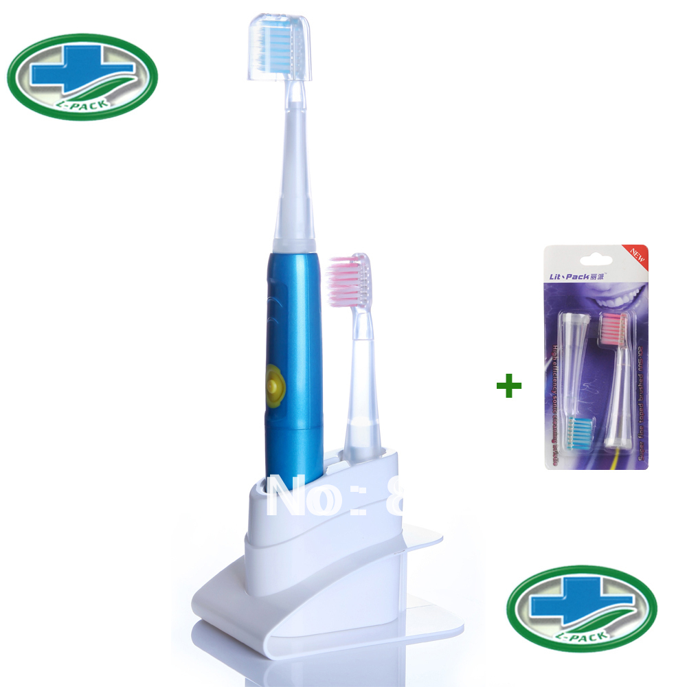 10PCS/lot Lit-Pack oral hygiene Sonic Toothbrush Ultrasonic Toothbrush  Electric Toothbrush 30,000 Strokes  With 4 Brush Head 2pcs philips sonicare replacement e series electric toothbrush head with cap