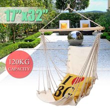 Canvas Nordic Style Hammock Chair Outdoor Indoor Garden Dormitory Bedroom Swinging Hanging Chair For Adult Single Safety Chair(China)