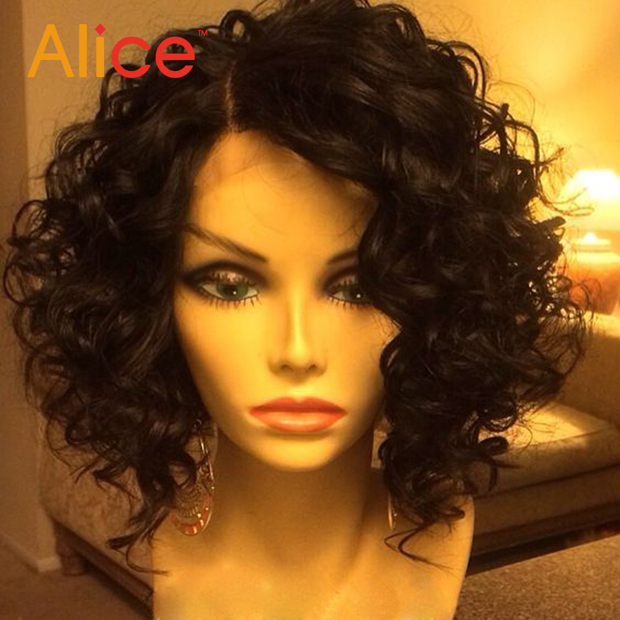Short Curly Lace Front Wigs With Baby Hair Brazilian Lace