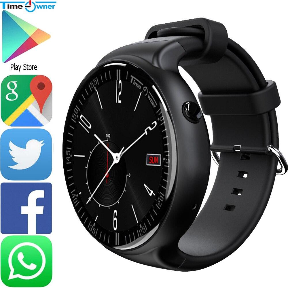 185e8a7b7e3 Proprietário em tempo TW2 Relógio Inteligente Android 5.1 os 1G RAM 16 ROM  GPS Navegação App