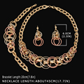 2016 HOT dubai Gold Plated Filled Women Party Jewelry Set Women Wedding Necklace Bracelet Earring Ring African Beads Jewelry Set