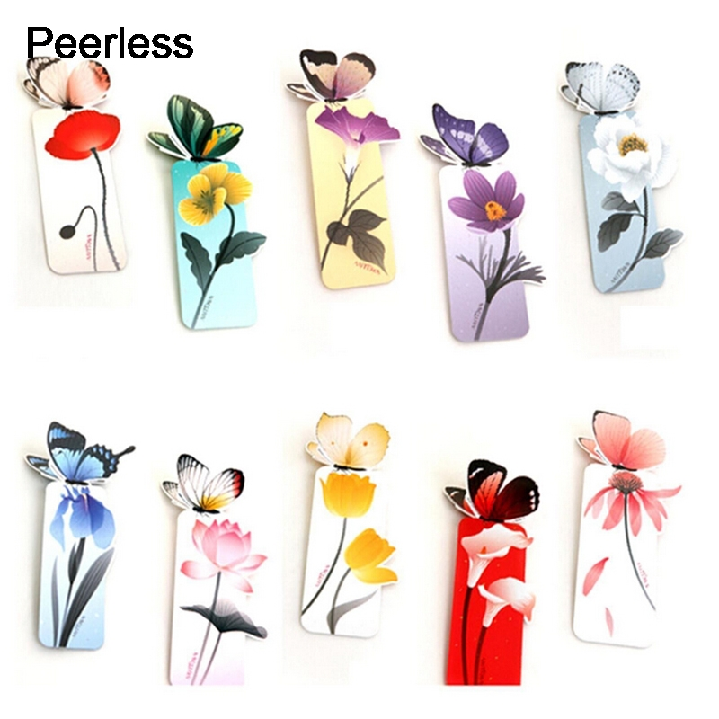 Peerless Cartoon Animal Butterfly Print Paper Bookmark