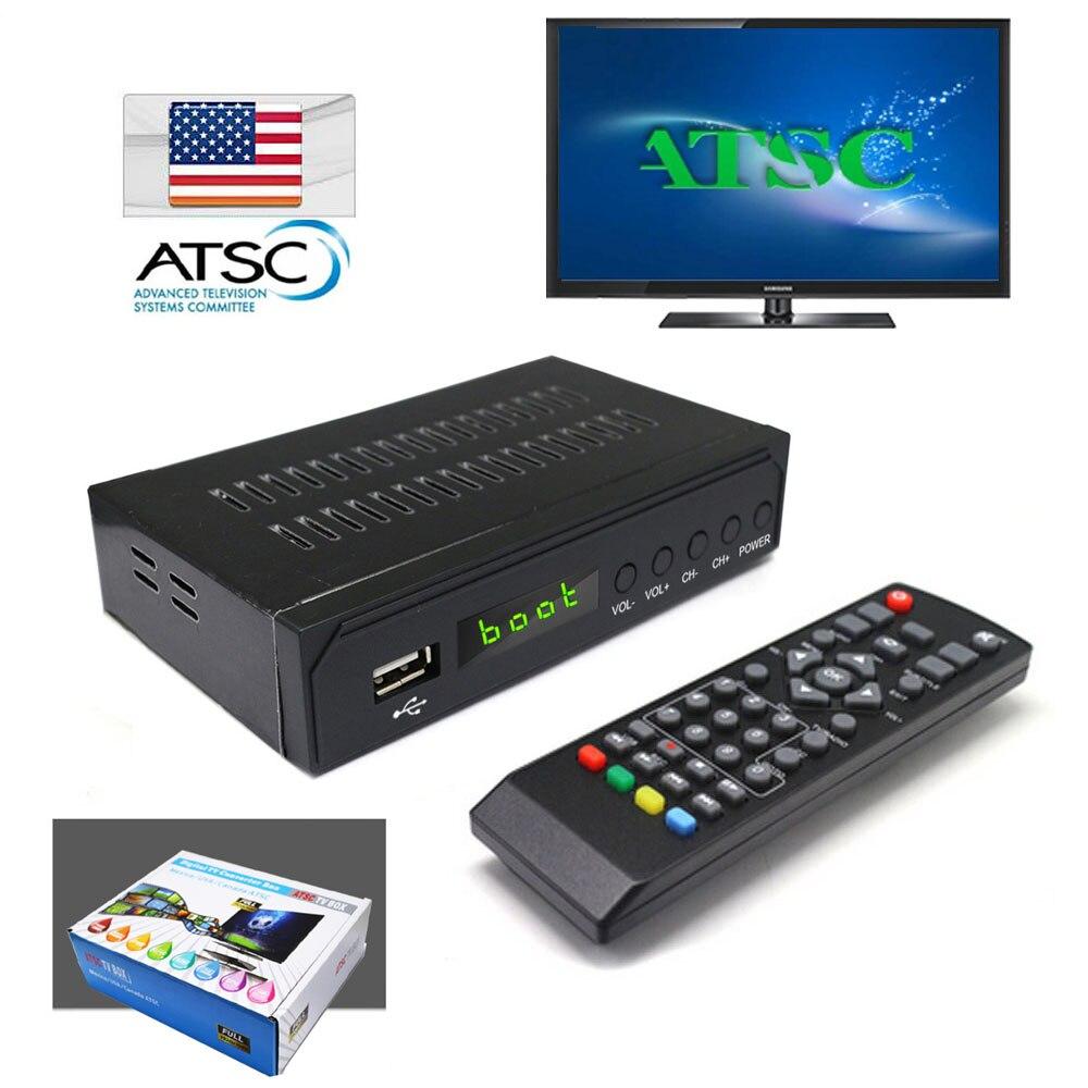 Canada Market Digital Analog Converter 1080P ATSC Terrestrial Broadcast Tv Box Receiver Antenna + Media Player and USB Recording