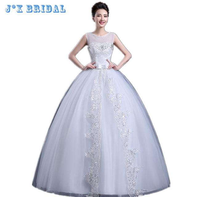c0f2ca0ae56 Wedding Dresses 2017 The Bride Classic Embroidery Bling Bling Crystal Cheap  Fashion Frock White Fluffy Robe Chic Bridal Gown