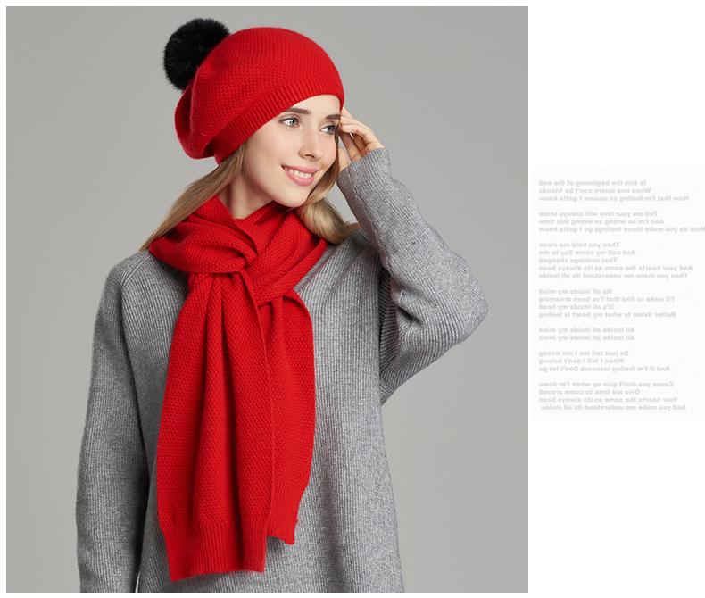 Bonnet écharpe haute qualité Chic Pour Femmes