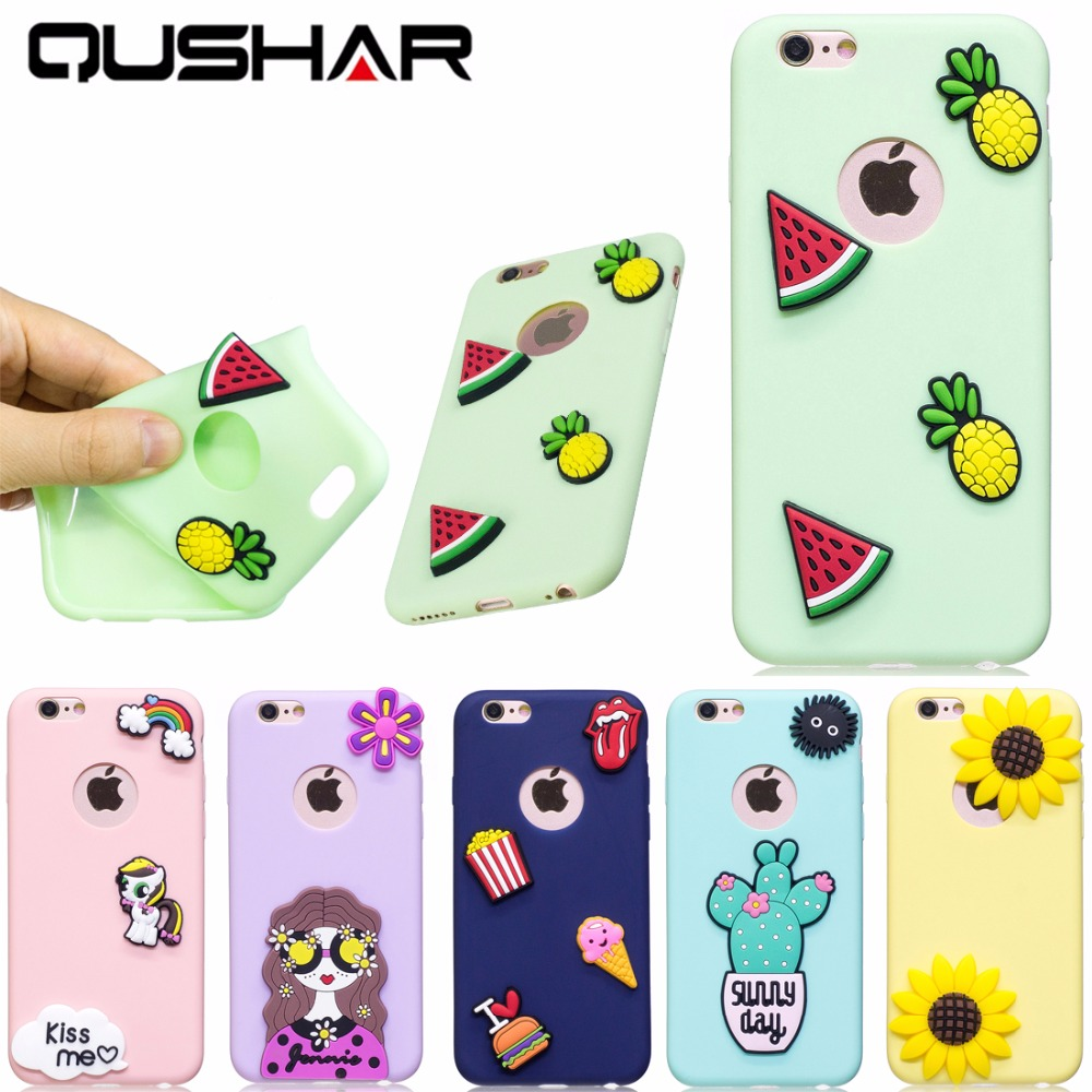 Iphone 6 squishy case - Qushar Soft Silica Gel Case For Iphone 6 6s Squishy Phone Case Silicone For Iphone 6