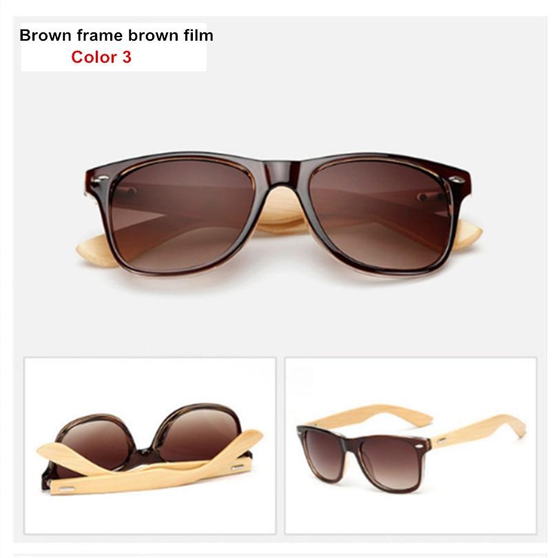 Bamboo Sunglasses Men Women Travel Goggles Sun Glasses Vintage Wooden Leg Eyeglasses Fashion Brand Design Sunglasses Male Female 14