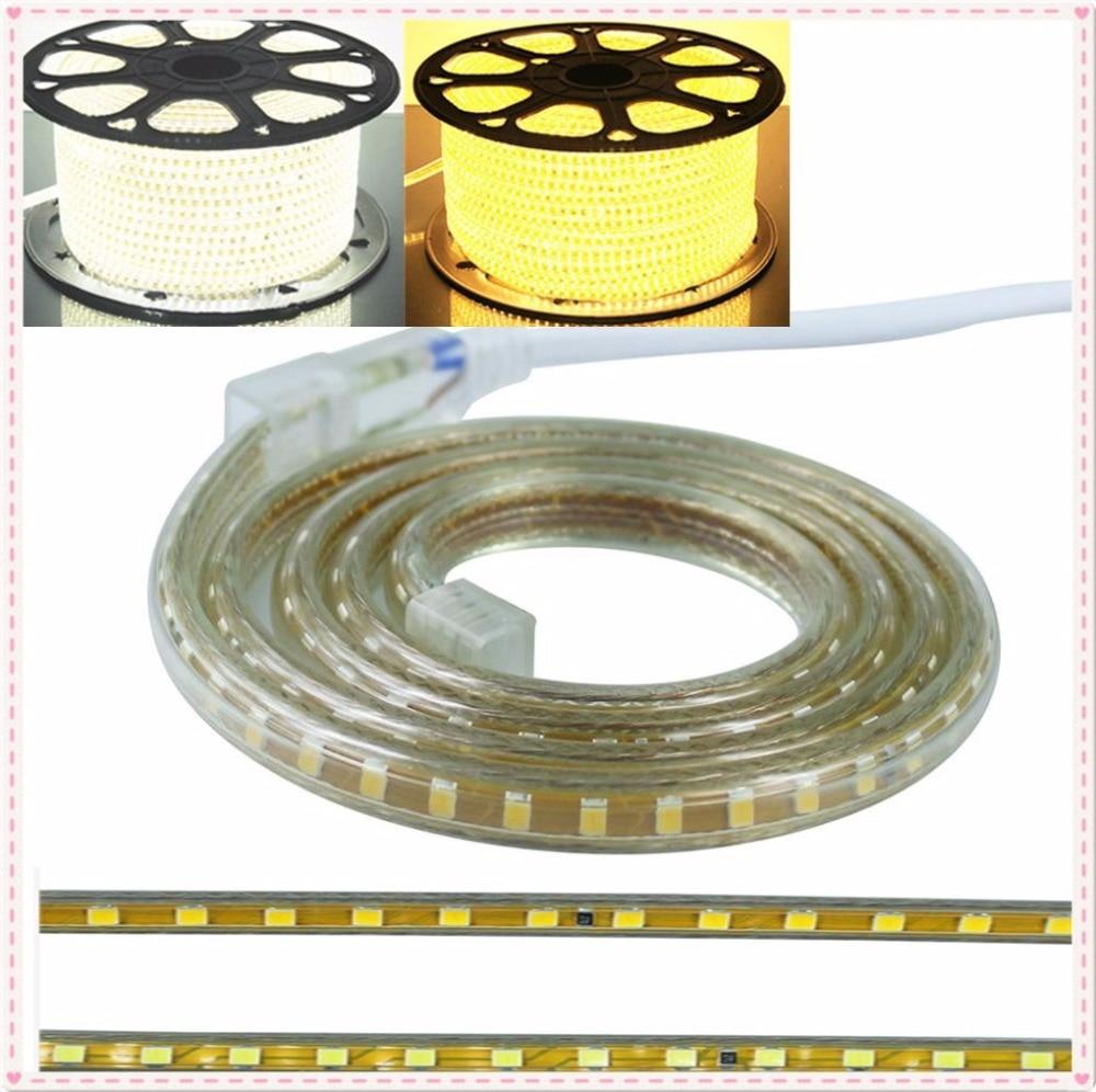 Waterproof 120LED/M 220V 2835 SMD LED strip light EU plug LED String Christmas light Neon Tape 5m 15m 20m 25m 100m Holiday lamp