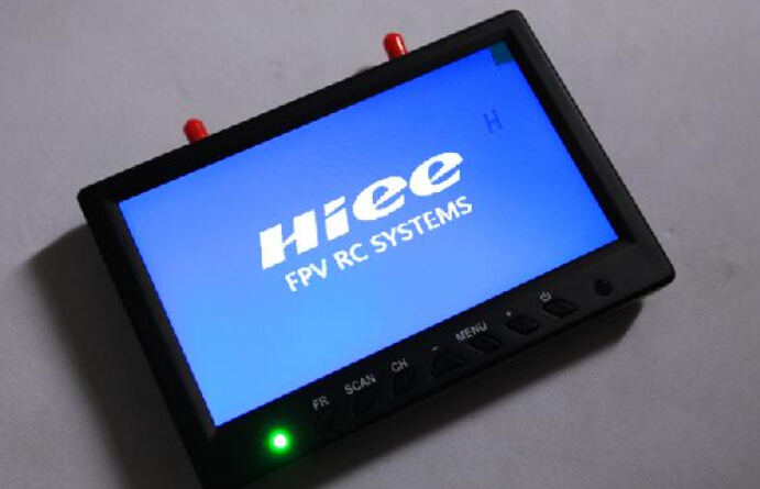 Hiee 7 inch 5.8G 32CH Auto-scan Diversity Receiver FPV Monitor with double Antenna